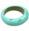 Antique turquoise wavy bangle