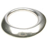 Thin wavy antique silver bangle