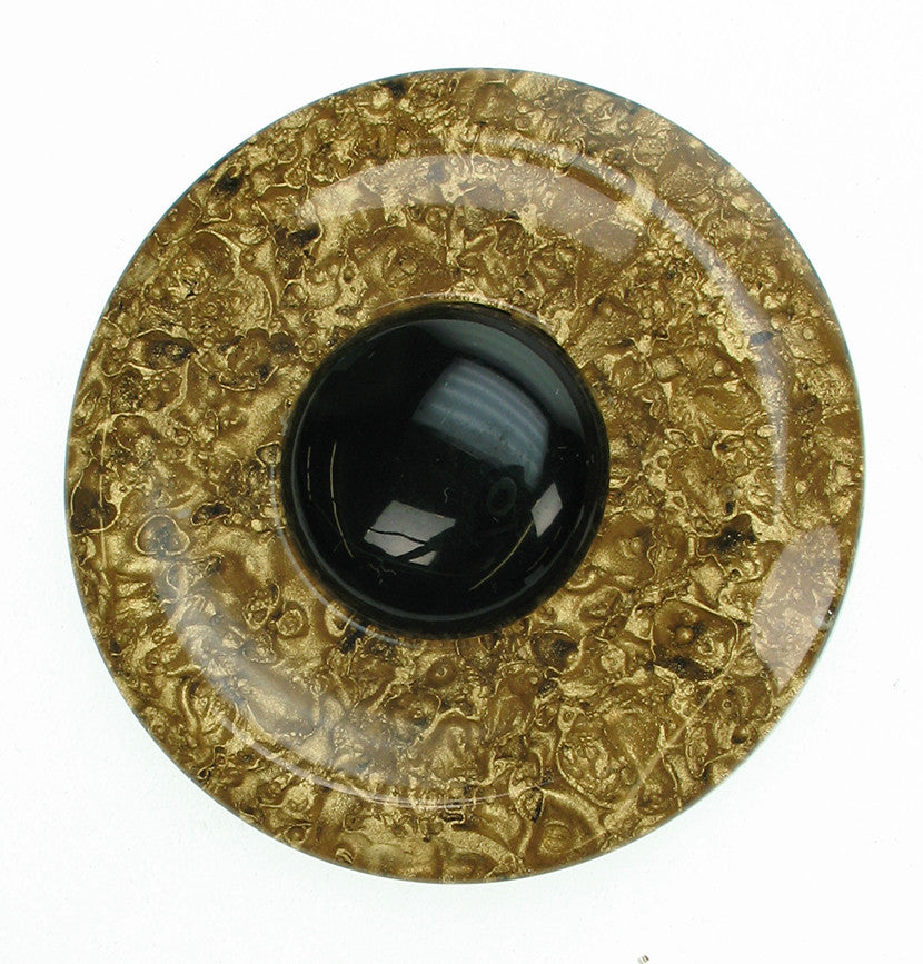 Gold and black vintage brooch