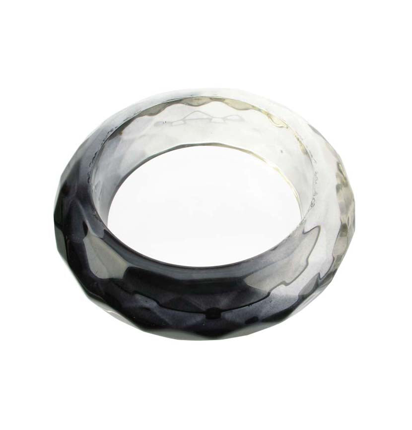Smoked  faceted resin bangle
