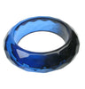 Smoked blue faceted resin bangle