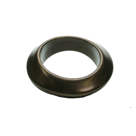 Angular bronze plated bangle