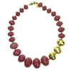 Gold and Plum faceted necklace