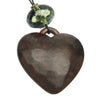 Heart pendant with smoke lime bead