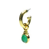 Star emerald glass drop vintage earrings