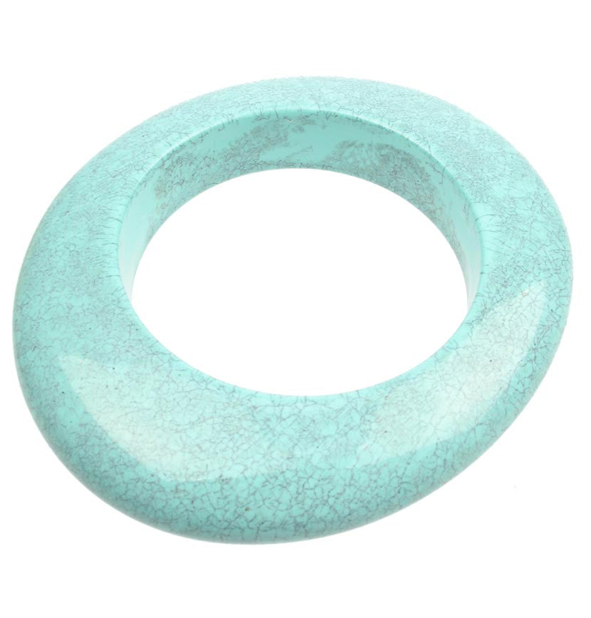 Cracked Turquoise oval bangle