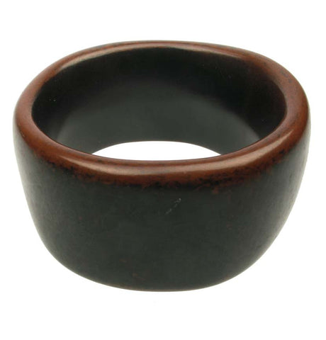 Chunky wide antique red ebony bangle