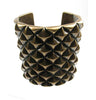 Studded cuff in antique bronze colour