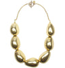Antique gold plated pebble necklace