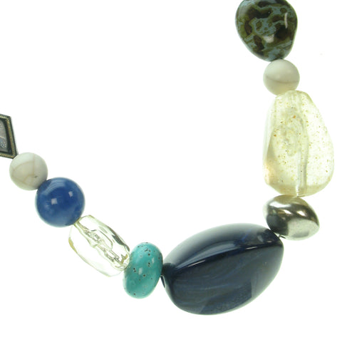A mixture of subtle sea bead necklace