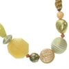 Subtle mixture of ivory, antique gold and coral bead necklace