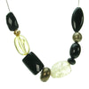 A stunning blend of black, bronze and amber  bead necklace