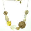 A sophisticated blend of ivory coloured resin bead necklace