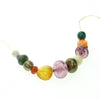Vivid blend of gem coloured resin bead necklace