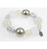 Stretch silver and clear frost bracelet