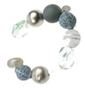 Stretch turquoise silver and clear frost bracelet