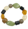 Stretch green and amber bracelet