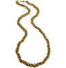 Chain necklace with mustard grosgrain ribbon