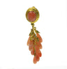 Coral coloured multi from clip vintage earrings