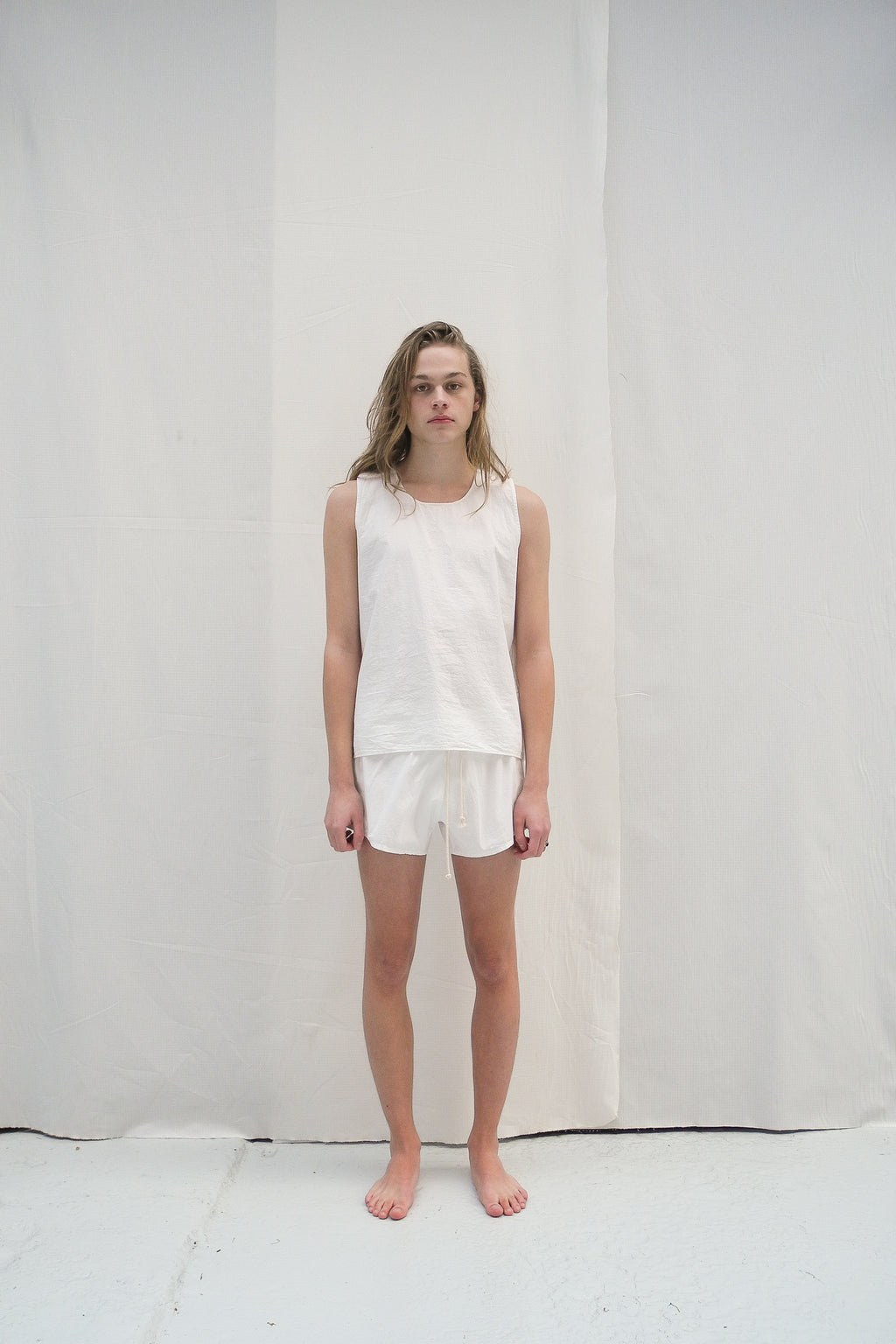 VICTOR Vest | White Organic Cotton