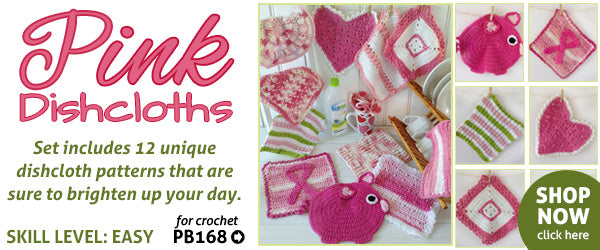 Pink Dishcloths crochet pattern