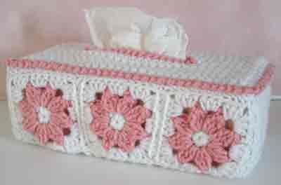Floral Tissue Box Cover Free Pattern Maggie S Crochet