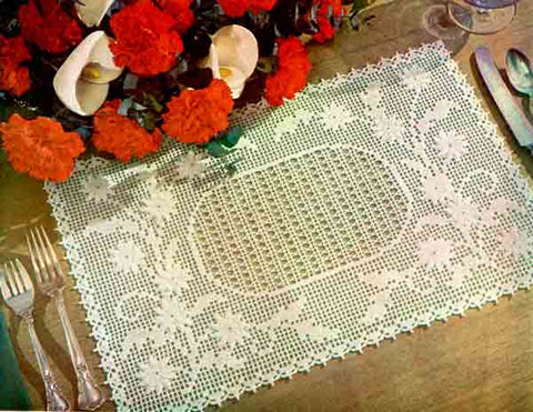 Embossed Daisy Placemat Free Pattern Maggies Crochet