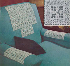 Chair cover set free crochet pattern