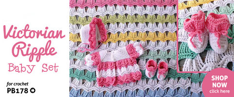 Victorian Ripple Crochet Baby Set Pattern