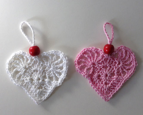 Hanging Beaded Heart Free Pattern Maggie S Crochet
