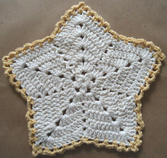Christmas Star Crochet Dishcloth Free Crochet Pattern
