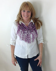 City Life Fringed Scarf Free Pattern Maggies Crochet