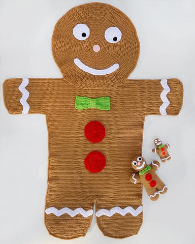 Gingerbread afghan and Toys