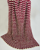 rambling ruffles afghan red and white