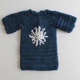 blue sweater with snowflake
