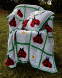 ladybug afghan and pillow