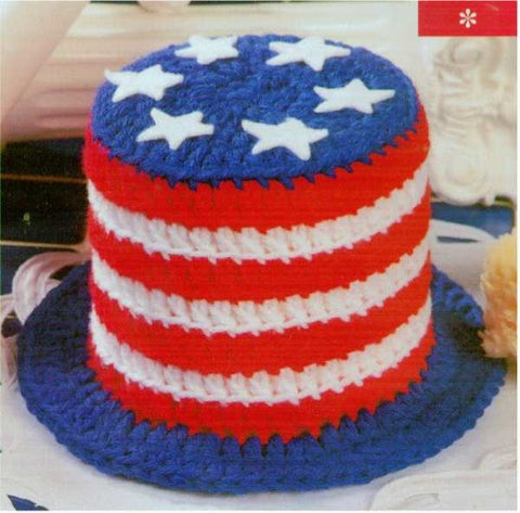American flag themed 4th of July Toilet Paper top hat