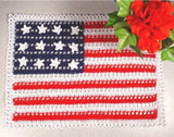 American flag doily with complementary rose