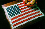 American flag table doily