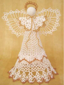 Angel Victoria Christmas Tree Topper - Maggie's Crochet