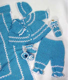 Blueberry Baby Layette outfit