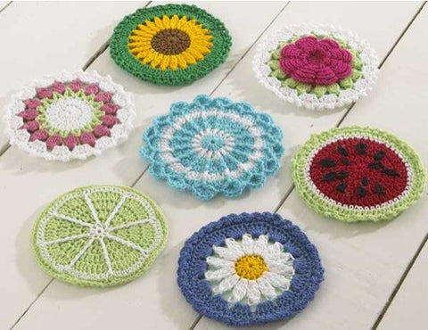 Flower designed CD Coasters Set