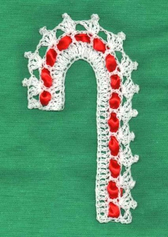 candy cane crochet ornament pattern