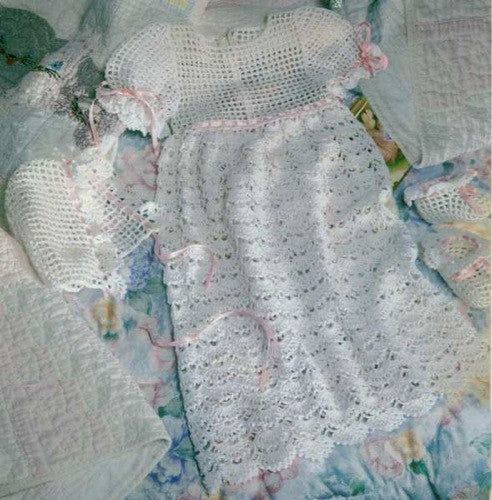 Cherished Christening Set Crochet Pattern - Maggie's Crochet