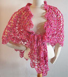 Pink Chic Shawls Front side view