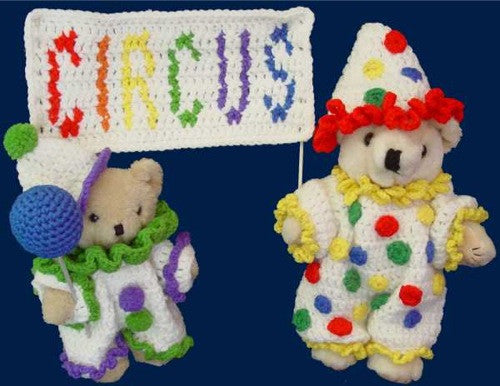 Circus Bears Set Pattern - Maggie's Crochet