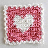 pink and white heart coaster