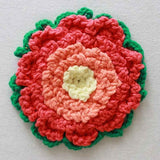 orange and pink flower coaster