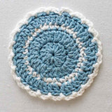 blue and white swirl coaster