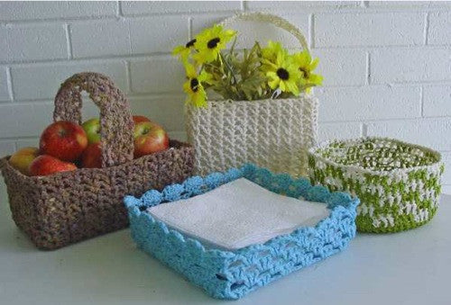 Country Baskets Crochet Pattern - Maggie's Crochet